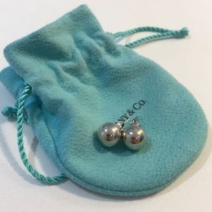 Tiffany &co sterling silver ball earrings.